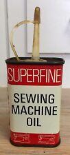 Vintage Superfine Sewing Machine Oil John W Miller Brighouse 125 Ml Tin