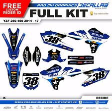 YAMAHA YZF250 YZF450 2014 2015 2016 2017 MX Graphics Decals Stickers Reed Webb