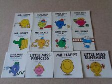 MR MEN and LITTLE MISS LARGER STYLE BY ROGER HARGREAVES BOOKS