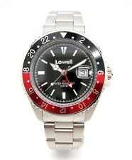 Orologio Lowell Hurricane GMT 10atm ghiera bicolore black/red bezel Ref.PM0915