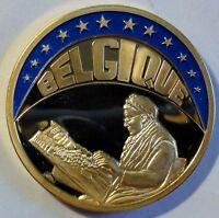 FARB-ECU 1993 - Belgique / Belgien - teil-vergoldet PP / PROOF - mit Zertifikat