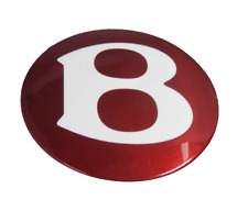 """Bentley CREWE GENUINE Red """"B"""" for HubCap 3W0601157A"""