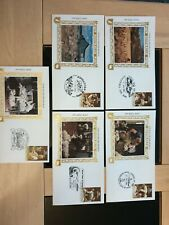 "1986 ""Click Go The Shears Boys"" Silk picture x 5 FDCs Silk Picture Rare Seven Cr"