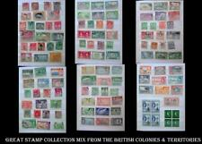 Great Stamp Collection British Colonies Mix Ceylon India Jamaica SA NZ Bahamas