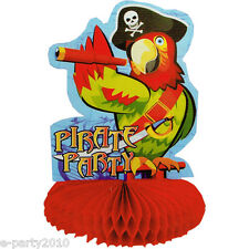 PIRATE PARTY PARROT HONEYCOMB CENTERPIECE ~ Birthday Party Supplies Decoration