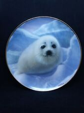 "Franklin Mint/Humane Society Fine Porcelain Plate By Wepplo ""Snow Pup"" No.Jc9976"