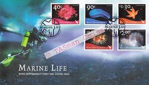First Day Cover FDC 2003 Ross Dependency New Zealand Post Marine Life