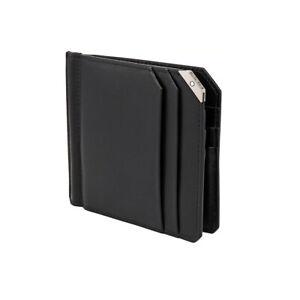 Montblanc Urban Spirit Black Leather Men's Wallet 6CC With Money Clip #124092