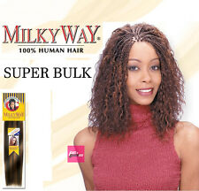 MILKYWAY SUPER BULK 100% HAMAN BRAIDING HAIR EXTENTION WET & WAVY MICRO BRAID