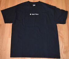NWOT Apple Computer Main Place T Shirt Mac iPhone iMac Black 100% Cotton Size L
