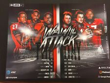 Georgia Bulldogs Football 2017 Schedule Poster Nick Chubb Jacob Eason Sony Michl