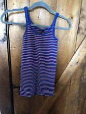 Cynthia Rowley Blue With Orange Stripes Tank Large