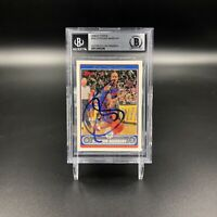 Stephon Marbury Signed Autographed Topps Trading Card Beckett BAS Knicks