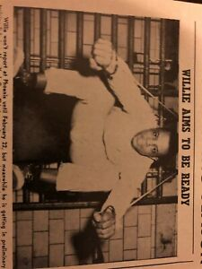 1959 SAN FRANCISCO Giants Jottings NEWSLETTER Spring Training WILLIE MAYS