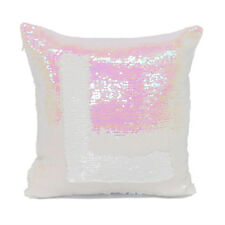 1x Sublimation Blank Reversible Mermaid Pillow Sequin Cover Glitter DIY Printing