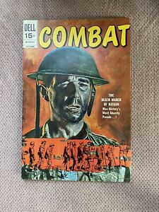 Combat #29 Very Nice Painted Cover Dell War Comic 1970 FN+