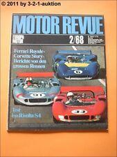 Motor Revue Nr. 66 1968 2/68 Corvette Story Iso Rivolta