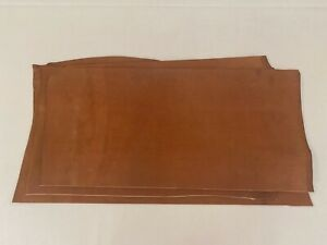 2.1 - 2.3mm thick dyed veg tan leather craft - saddle tan - 3.5-4.5sqft+