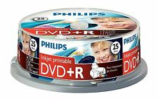 PHILIPS DVD+R 120 MIN VIDEO 4.7GB 16X VELOCIDAD IMPRIMIBLE BLANCO DISCOS 25 PACK