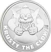 2020 1 Oz Tuvalu Krusty The Clown Silver Coin .9999 Fine Silver FREE SHIPPING