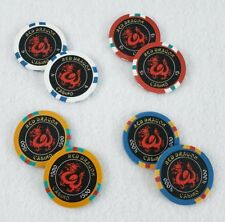 Rush Hour 2 Jackie Chan Lot of 8 Red Dragon Casino Prop Poker Chips
