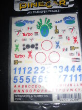 PineCar Derby Racers Dry Transfer Decals Sponsors & Numbers - 306