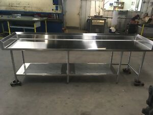 Stainless Steel Table 120'' X 30'' X 34'' Tall