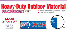 Now Open Banner Sign grand opening new owner management promotional business