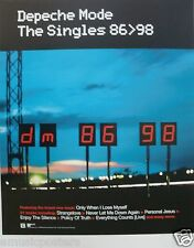 "DEPECHE MODE ""THE SINGLES 86 - 98"" U.S. PROMO POSTER - 80's New Wave Music"