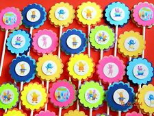 30Ct BACKYARDIGANS Cupcake Toppers Birthday Party Favors, Baby Shower 30Ct