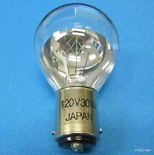 Hosobuchi O-3609 120V30W (78508) 1/3 SILVERED Japan (2361)