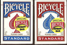 2 DECKS Bicycle Stripper gaff magic red-blue playing cards