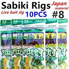 10 X Sabiki (Japan), Size #8, Live Bait Jigs, Yellow Tail, Fishing Rig, #Pink8