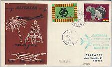 AIRMAIL 1st FLIGHT COVER - GHANA - Accra / Roma  1961 - Pellegrini # 469 AD