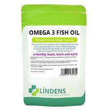 Omega 3 Fish Oil 30% DHA / EPA 3-PACK 270 Capsules High Strength Best Quality