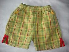 Okids vertbaudet baby boys green check spring summer shorts 6 months