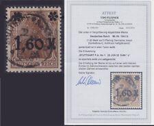 DR Mi Nr. 154Ib mit Fotoattest Fleiner BPP, gest. Stuttgart 1922, Germania