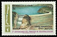 CHILE, 10th. Anniv. REGIONS, MAULE REGION, COLBUN HYDROELECTRIC POWER PLANT, MNH