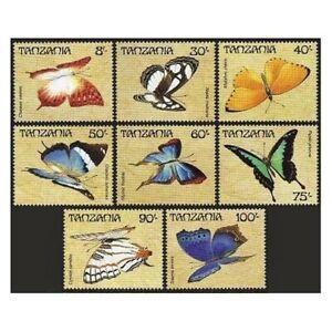 Tanzania 446-453,454-455,MNH.Michel 498-505,Bl.81-82. Butterflies 1988