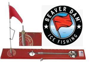 Beaver Dam Tip Up  Red With Red Flag BDTPRD