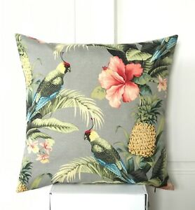 Tommy Bahama Indoor/Outdoor Beach Bounty  Bird pineapple Square Cushion Cover