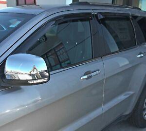 Jeep Grand Cherokee 2011 - 2019 Tape-On Wind Deflector Vent Visor Shades 4pc