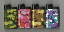 CAMOUFLAGE DESIGNS DJEEP LIGHTER #2-- SET OF 4 ONE OF EACH COLOR NEW