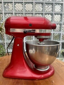CANDY APPLE RED ARTISAN KITCHENAID KITCHEN AID MIXER 4.8L W/ ATTACHMENTS MANUAL
