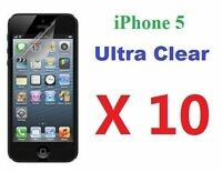 Apple iPhone 5 5G LCD Screen Protector Ultra Clear Film Bulk Wholesale Lot X 10