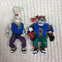 VTG Playmates 1989 Stan Sakai Usagi Rabbit & 1990 Sharp Garcia Kahn Panda TMNT