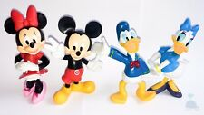 4pcs Disney Mickey Mouse Donald Duck Dolls Resin Character Figures Toy Miniature
