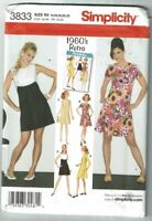 Simplicity #3833 RETRO (1960) Dress with variations Pattern Sz 14-22 UC