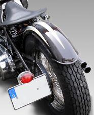 180mm Heck Fender Alu umgebördelt Motorrad Schutzblech Harley Bobber Chopper