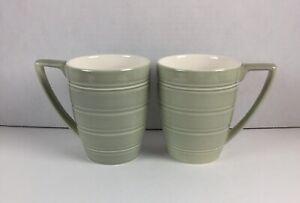2 Wedgwood JASPER CONRAN Casual Green Mugs